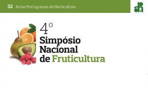 Consulte as Actas do 4º Simpósio Nacional de Fruticultura